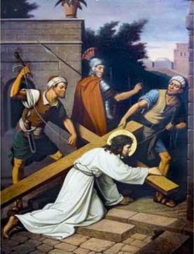 Jesus en la calle con gente