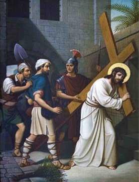 Jesus en el calle con hombres